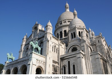PARIS, FRANCE - JUNE 05, 2008: Perspective view of the basilica of the Sacred Heart, in the district of Montmartre