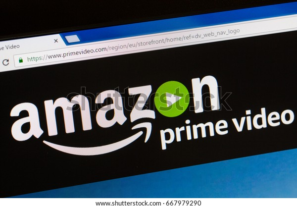Paris, France - June 05, 2017 : Amazon Prime Video HomePage of Website. Amazon, is an American electronic commerce. To expand its business, amazon has created a new online streaming video service
