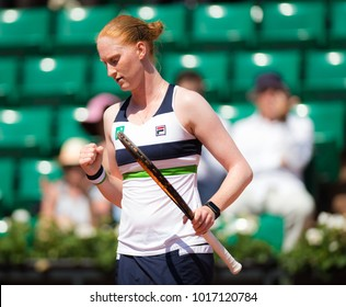 PARIS, FRANCE - JUNE 1 : Alison van Uytvanck at the 2017 Roland Garros Grand Slam tennis tournament