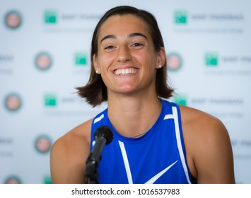 PARIS, FRANCE - JUNE 1 : Caroline Garcia at the 2017 Roland Garros Grand Slam tennis tournament