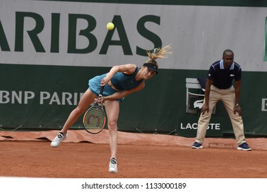 PARIS, FRANCE - JUNE 1:  Elena Svitolina (UKR) competes in round 3 at the The French Open on June 1, 2018 in Paris, France.