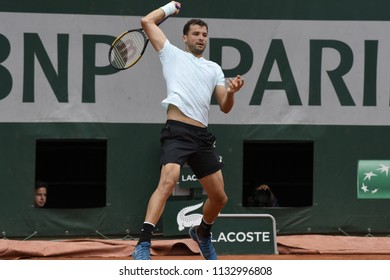 PARIS, FRANCE - JUNE 1:  Grigor Dimitrov (BUL) competes in round 3 at the The French Open on June 1, 2018 in Paris, France.