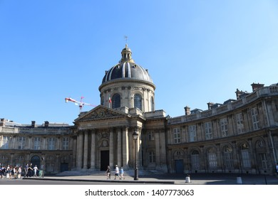 Paris, France - June 18 2017: Bibliotheque Mazarine in Paris