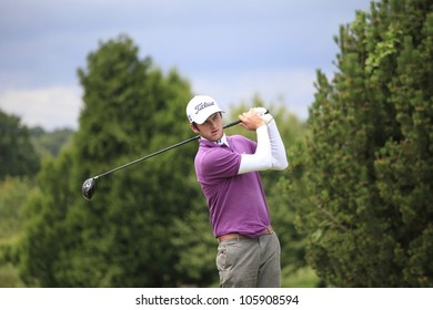 PARIS, FRANCE - JUNE 18: Damien Perrier (FRA) competes at The French Open qualification on June, 18, 2012, at The Courson golf course, Paris, France.