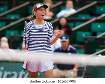 PARIS, FRANCE - JUNE 2 : Elise Mertens at the 2017 Roland Garros Grand Slam tennis tournament
