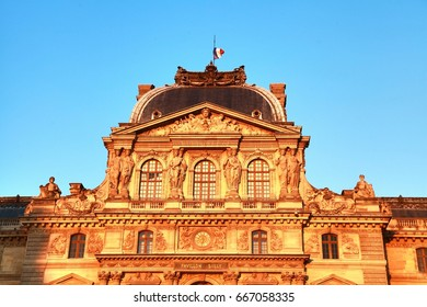 Paris , France : june  20 ,2017 : The Louvre is the world's largest museum and a historic monument located on the center  of city