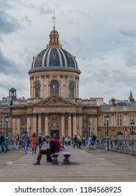 PARIS, FRANCE – JUNE 2018:  France Institute (Institut de France), French Learned Society, Paris, France, Europe