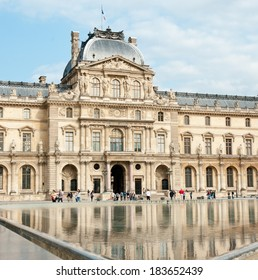 PARIS, FRANCE - JUNE 25, 2013: Louvre Museum. The Louvre is one of the largest museums in the world.