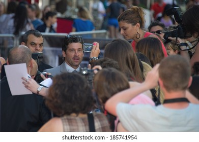 """PARIS, FRANCE - JUNE 26, 2011 - Patrick Dempsey at French premiere of """"Transformer 3"""" at Le Grand Rex Theater"""
