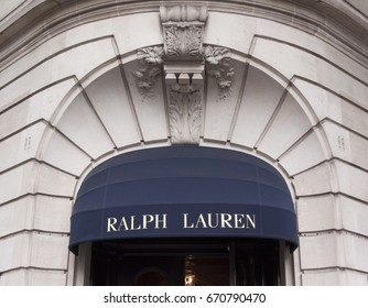 Paris, France -june 29, 2017: Ralph lauren store in Paris