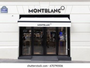 Paris, France -june 29, 2017: Montblanc store at the champs-elysees in Paris