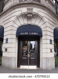 Paris, France -june 29, 2017: Ralph lauren store in Paris