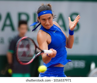 PARIS, FRANCE - JUNE 3 : Caroline Garcia at the 2017 Roland Garros Grand Slam tennis tournament