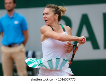 PARIS, FRANCE - JUNE 3 : Simona Halep at the 2017 Roland Garros Grand Slam tennis tournament