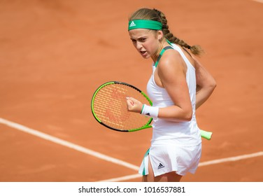 PARIS, FRANCE - JUNE 4 : Jelena Ostapenko at the 2017 Roland Garros Grand Slam tennis tournament