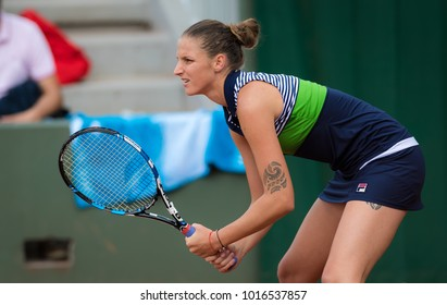 PARIS, FRANCE - JUNE 4 : Karolina Pliskova at the 2017 Roland Garros Grand Slam tennis tournament
