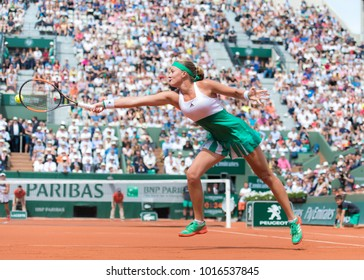 PARIS, FRANCE - JUNE 4 : Kristina Mladenovic at the 2017 Roland Garros Grand Slam tennis tournament
