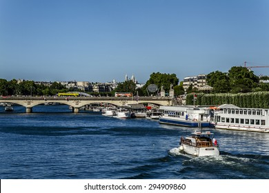 PARIS, FRANCE - JUNE 6, 2015: The picturesque embankments of the Seine River in Paris.