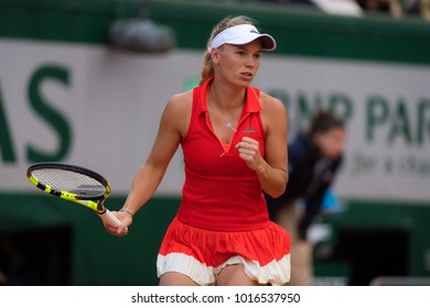 PARIS, FRANCE - JUNE 6 : Caroline Wozniacki at the 2017 Roland Garros Grand Slam tennis tournament
