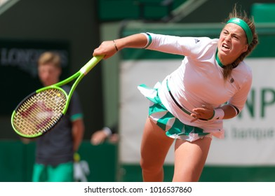 PARIS, FRANCE - JUNE 6 : Jelena Ostapenko at the 2017 Roland Garros Grand Slam tennis tournament