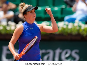PARIS, FRANCE - JUNE 7 : Elina Svitolina at the 2017 Roland Garros Grand Slam tennis tournament