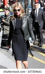 Paris. France. Kate Moss arrives at the George V hotel in Paris. 1st October 2012.