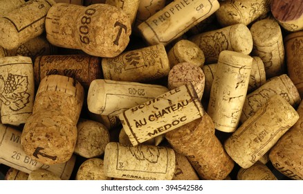 Paris, France - mach 17 2009 : close up of french wine cork