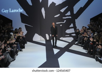 PARIS, FRANCE - MARCH 02: Designer walks the runway during the Guy Laroche Ready to Wear Fall/Winter 2011 show as part of the Paris Fashion Week on March 02, 2011