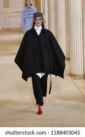 PARIS, FRANCE - MARCH 02: A model walks the runway during the Nina Ricci show as part of the Paris Fashion Week Womenswear Fall/Winter 2018/2019 on March 2, 2018 in Paris, France.