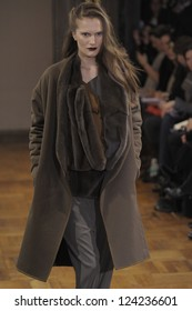PARIS, FRANCE - MARCH 02: A model walks the runway during the Anne Valerie Hash Ready to Wear Fall/Winter 2011 show as part of the Paris Fashion Week on March 02, 2012 in Paris, France