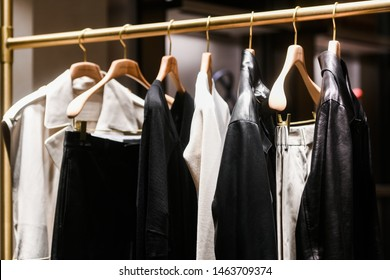 Paris, France - March 03, 2019: Women's clothing in a store in Paris, March 2019.