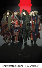 PARIS, FRANCE - MARCH 03: Models walk the runway during the Sonia Rykiel show as part of the Paris Fashion Week Womenswear Fall/Winter 2018/2019 on March 3, 2018 in Paris, France.