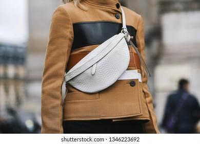 Paris, France - March 04, 2019: Street style outfit -  Caroline Daur after a fashion show during Paris Fashion Week - PFWFW19