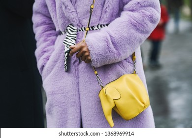 Paris, France - March 05, 2019: Street style appearance during Paris Fashion Week - PFWFW19