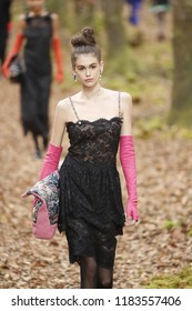 PARIS, FRANCE - MARCH 06: Kaia Gerber walks the runway during the Chanel show as part of the Paris Fashion Week Womenswear Fall/Winter 2018/2019 on March 6, 2018 in Paris, France.