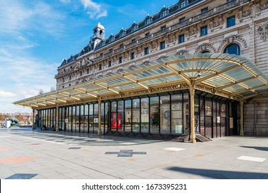 Paris, France - March 15 2020: Musee d'Orsay closed in order to stop the spread of Coronavirus epidemic.