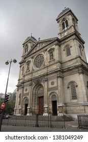 Paris / France - March 18, 2019: St Francis Xavier's Church in Paris (French: Église Saint-François-Xavier)