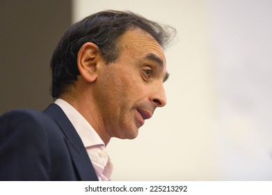 PARIS, FRANCE - MARCH 2, 2011 : Eric Zemmour at the National Convention of the liberal reformers organized by the UMP in the National Assembly