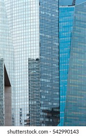 PARIS, FRANCE - March 27, 2014: Skyscrapers of La Defense -Modern business and residential area in the near suburbs of Paris, France.