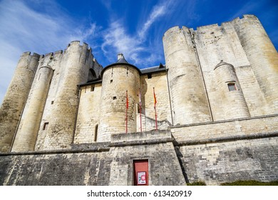 Paris, France - March 27, 2017: Beautiful medieval castle in Niort City, France