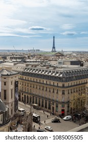 Paris, France, March 29 2017: Beautiful panoramic view of Paris from the Eiffel Tower