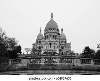 PARIS, FRANCE – MARCH 3RD 2017: The Sacré-Cœur