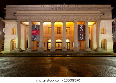 PARIS, FRANCE - MARCH 7: Odeon-Theatre de l'Europe. It was originally built between 1779 and 1782, in Paris, France on March 7, 2013