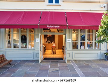 PARIS, FRANCE - MAY 10, 2017 : Atelier Notify boutique in La Vallee Village