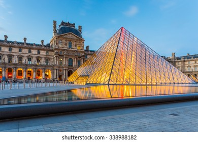 Paris, France - May 13, 2014: The Louvre Museum in Paris is one of the world's largest museums and a historic monument. A central landmark of Paris, France.