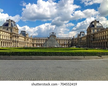 PARIS, FRANCE - MAY 14, 2014: Louvre piramid museum