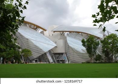 Paris, France - May 15 2017 Louis Vuitton Fondation Building