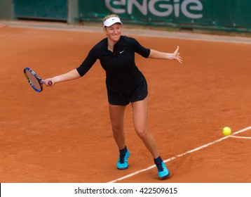 PARIS, FRANCE - MAY 18 : Victoria Azarenka practices at the 2016 French Open