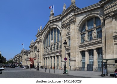 Paris, France - May 19, 2018: Gare du Nord railway station in Paris, France on May 19, 2018