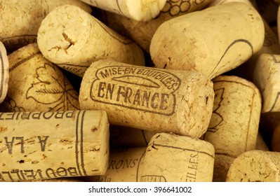 Paris, France - may 20 2004 : close up of french wine cork